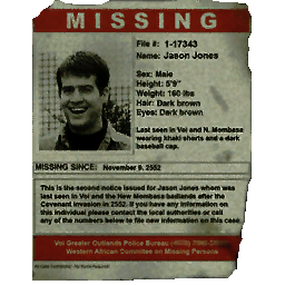 Missing Persons Posters Missing Person Poster  Halopedia The Halo Encyclopedia