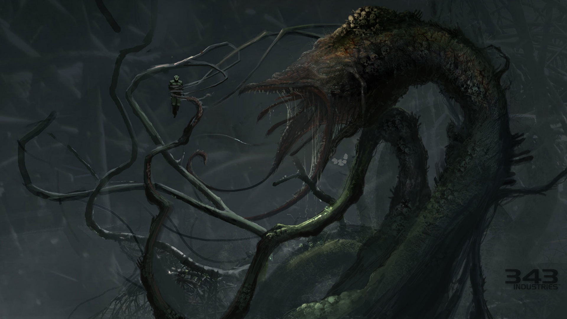 Concept Art For The Gravemind Halo The Master Chief