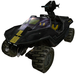 A view of the M12A1 Rocket Warthog in Halo: Combat Evolved multiplayer.