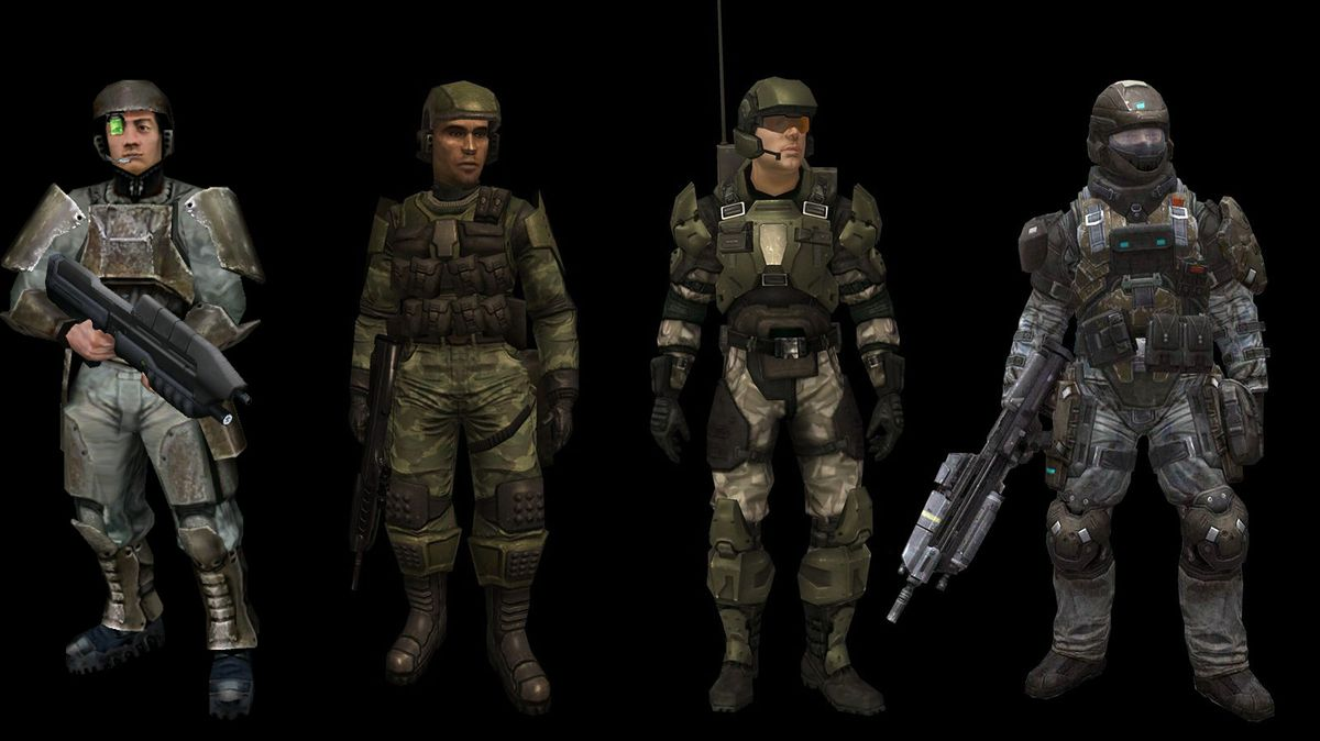 UNSC Marines from Halo 1 to 4.